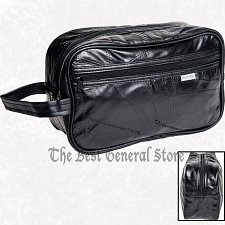 Buy Leather Makeup Cosmetic Medicine Jewelry Travel Bag Shaving Kit Toiletry Case