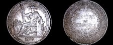 Buy 1899-A French Indo-China 1 Piastre World Silver Coin - Vietnam