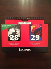 Buy TWIN 28 black 29 color ink Lexmark X2500 X5070 X5495 all in one printer scanner