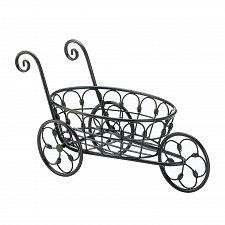 Buy *17898U - Black Iron 3 Wheel Basket Flower Cart