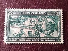 Buy New Zealand 1v used Centennial stamp, 1940 The arrival of the Maoris