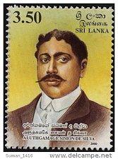 Buy Sri Lanka Post: 2000 MNH STAMP Simone De Silva Aluthgamage