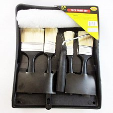 Buy 7 Pc Professional Brush Roller Paint Pan Liner Tray Coating Painting Art Kit Set