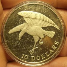 Buy Singapore 1974 10 Dollars Rare Silver Proof~Eagle Landing~6,000 Minted~Free Ship