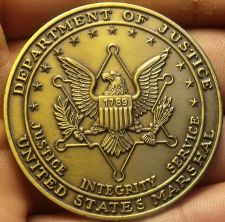 Buy Department Of Justice United States Marshal 44.8mm Unc Medallion~Bronze~Free Shi