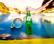 Buy 1 GREEN FANTA SMALL BOTTLES COLLECTIBLE MINIATURE KEY RINGS KEY CHAIN