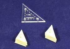 "Buy Mylar 1"" Right Triangle- 51 Piece Set - Quilting / Sewing Templates -"