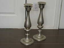 Buy CANDLESTICK Set Two Candle Holders 16 Inch Tall Used