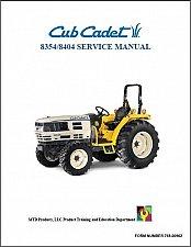 Buy Cub Cadet 8354 8404 Tractor Repair Service Workshop Manual CD