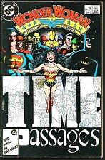 Buy WONDER WOMAN #8 SIGNED BY LEN WEIN DC Comics 1987 George Perez FINE --WW in JLA
