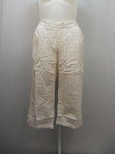 Buy SIZE 18 Women Cotton Capris Solid White Eyelet Overlay Inseam 19 BOCA BAY Elasti