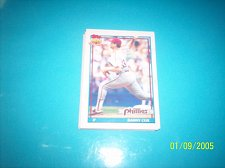 Buy 1991 Topps Traded danny cox phillies #25T mint free ship