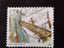 Buy Switzerland 1V USED STAMP 2007 Mi2025 Schellen-Ursli on Bridge