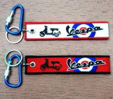 Buy VESPA Keychain Keyring Key Holder Embroidered Fabric Strap Tag Motorcycle,GIFT