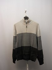 Buy Mens Sweater NAUTICA SIZE XL Striped Half Zip Mock Neck Rib Waist Long Sleeves