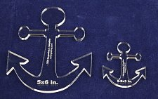 """Buy Anchor 2 Piece Set 5""""x 6""""& 2.5 x 3 - 1/4"""" Thick - - Quilting/Sewing Template"""