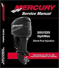 Buy 1997-1998-1999 Mercury 200 225 OptiMax DFI Outboards Service Manual CD