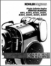 Buy Kohler K-Series K91 - K341 Engines Service Repair Manual CD K141 K161 K181 K241