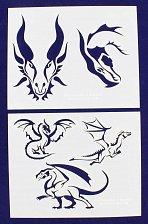 Buy Dragon Stencils-2 Piece Stencil Set -Mylar 14 Mil Painting/CraftsTemplate