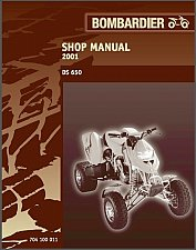Buy 2001 Can-Am DS 650 ATV Service Manual on a CD