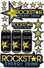 Buy 1 sheet New Rockstar Energy, Motocross Racing sticker Free shipping