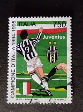 Buy Italy Football Used stamp 1995 Juventus