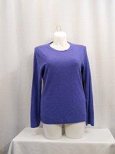 Buy Women Sweater Size XL Solid Purple DEBBIE MORGAN Scoop Neck Long Sleeves