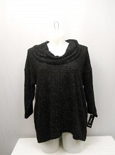 Buy Womens Cowl Sweater STYLE&CO PLUS SIZE 2X Solid Black Quarter Sleeves Pullover