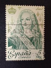 Buy SPAIN 1 Used Stamp Mi 2389 Royalty & Monarchies Thematic Louis I