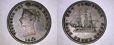 Buy 1843 Canadian Half Penny (1/2) World Token - New Brunswick
