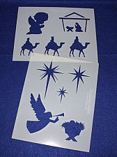 Buy 2 -Mylar 14 Mil Christian Christmas Stencils Painting/Crafts/Stencil/Template