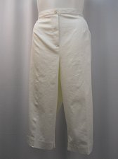 Buy Womens Crop Capris Plus Size 24W ALFRED DUNNER Bright White Elastic Waistband