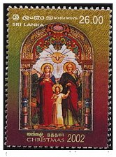 Buy Sri Lanka Post: 2002 MNH STAMP Category Religion - Christmas 2002 set of Two Mnh