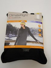 Buy CUDDL DUDS Women Crew Neck Top L 14-16 Black Stretch Fleece Tagless Warm Underwe