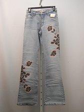 Buy SIZE 5/6 Junior Jeans MILANO MODA Stonewashed Embellished Boot Cut Inseam 33