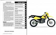 Buy 2001-2009 Suzuki DR-Z250 Service Manual on a CD - DRZ250