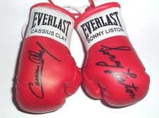 Buy Cassius Clay v Sonny Liston Signed mini Boxing gloves (highly collectable)