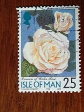 Buy Isle of Man stamp Mi750 1v Flowers Flowers Plants Flora Roses