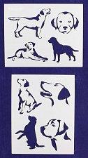 Buy Labrador Retriever Dog Stencils-2 pc Set-14 Mil Mylar- Painting/Crafts/Template