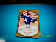 Buy JIM ABBOTT #16 2013 Panini USA Champions Gold Boarder Card FREE SHIP