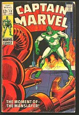 Buy Captain Marvel #12 Marvel Comics Arnold Drake S LEE 1969 Guardians of the Galaxy