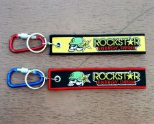 Buy Rock star Keychain Keyring Key Holder Embroidered Fabric Strap Motorcycle ATV