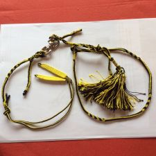 Buy Falconry Arabic Anklet, swivel and leash set Large (Yellow & Black)