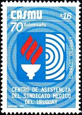 Buy URUGUAY 1 V STAMP Mi2878 2005 CASMU, 70th anniv. type II
