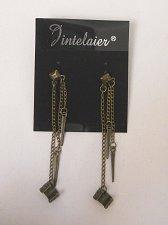 Buy Women Fashion Drop Dangle Earrings Gothic JINTELAIER Chains Cuffs Spikes Push Ba