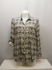 Buy PLUS SIZE 1X Women Button Down Shirt STYLE&CO Paisley Collar Neck Long Sleeves