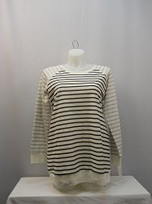 Buy PLUS SIZE 0X Womens Sweatshirt Style&Co Striped Crew Neck Long Sleeves Pullover