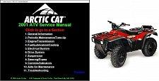 Buy 2001 Arctic Cat ATV Service Repair Workshop Manual CD - 250 300 400 500 models