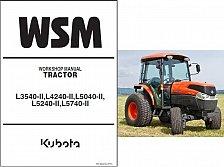 Buy Kubota L3540-II L4240-II L5040-II L5240-II L5740-II (HST/GST) Service Manual CD