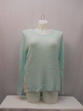 Buy Womens Sweater Size XXL NO BOUNDARIES Crochet Lace Sides Long Sleeves Mint Aqua